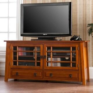 Upton Home Galloway Brown Mahogany TV/ Media Stand