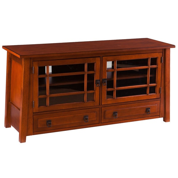 Upton Home Galloway Brown Mahogany TV/ Media Stand