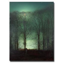 John Atkinson Grimshaw 'Figure in the Moonlight' Canvas Art