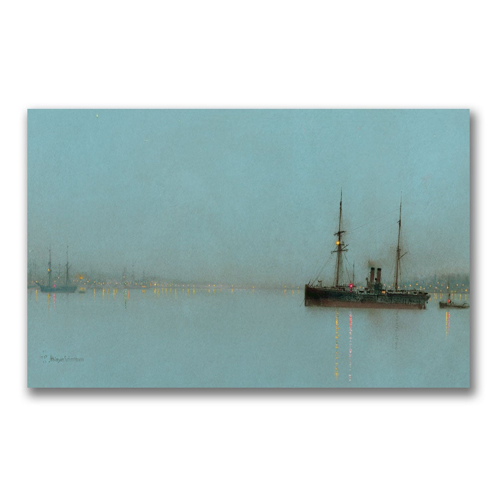 John Grimshaw 'Port Light' Gallery-Wrapped Canvas Art