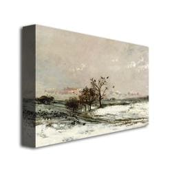 Charles Daubigny 'The Snow, 1873' Canvas Art