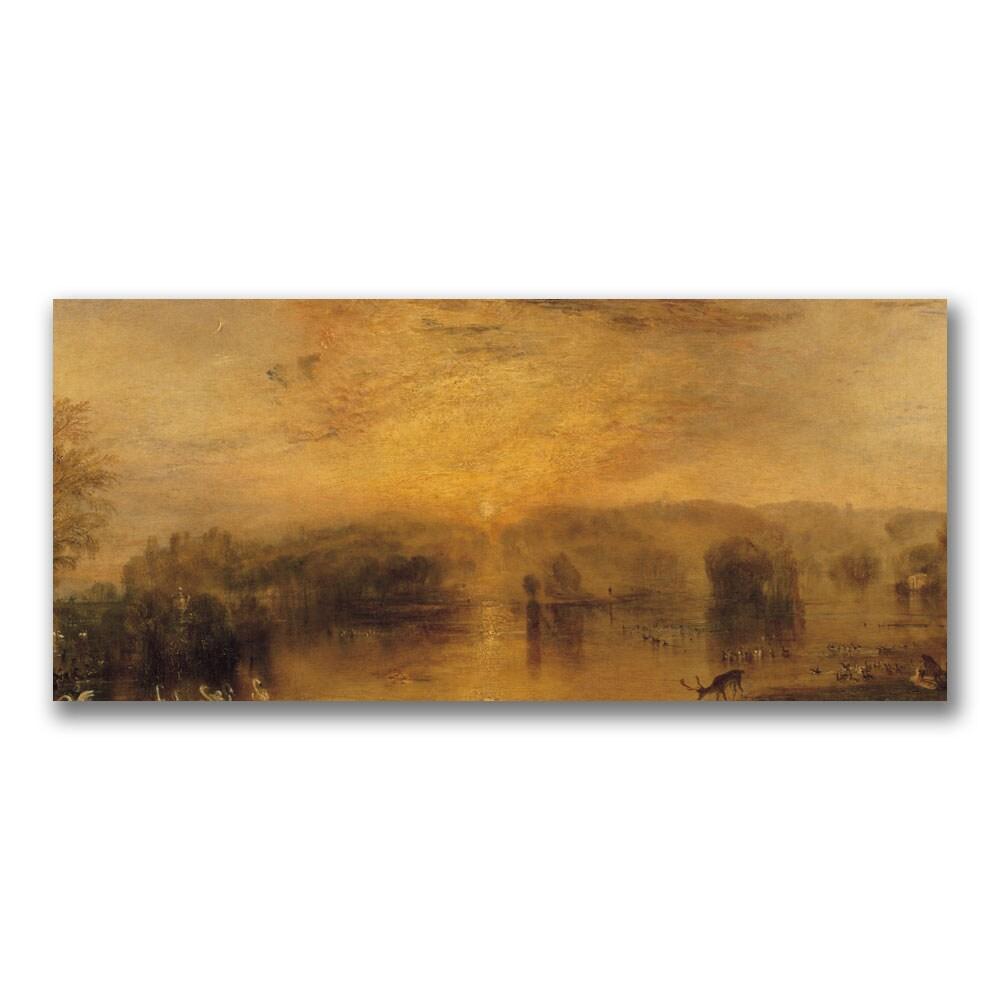 Joseph Turner 'The Lake, Petworth, Sunset' Canvas Art