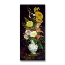 Paul Cezanne 'Vase of Flowers' Gallery-Wrapped Canvas Art