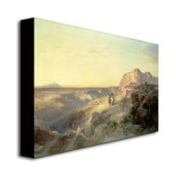 Thomas Moran 'Red Rock Trail, South Utah' Canvas Art
