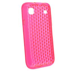 Clear Pink/ Clear Blue TPU Cases/ Screen Protectors for Samsung Galaxy S 4G