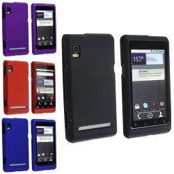 Black/ Red/ Blue/ Purple Rubber Coated Cases for Motorola Droid 2 A955
