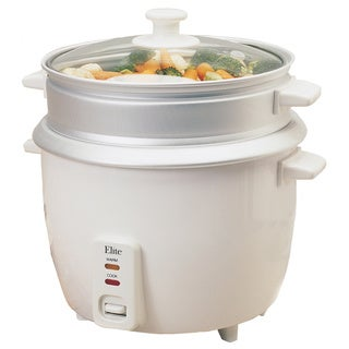 Elite Gourmet White 8-cup Rice Cooker
