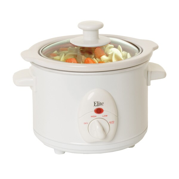 Maxi Matic White 1-quart Mini Slow Cooker