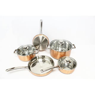 Gourmet Chef Copper Pro 8-piece Cookware Set