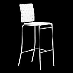 Zuo Criss Cross White Bar Chairs (Set of 2)