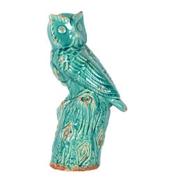 Urban Trends Collection Blue Ceramic Owl
