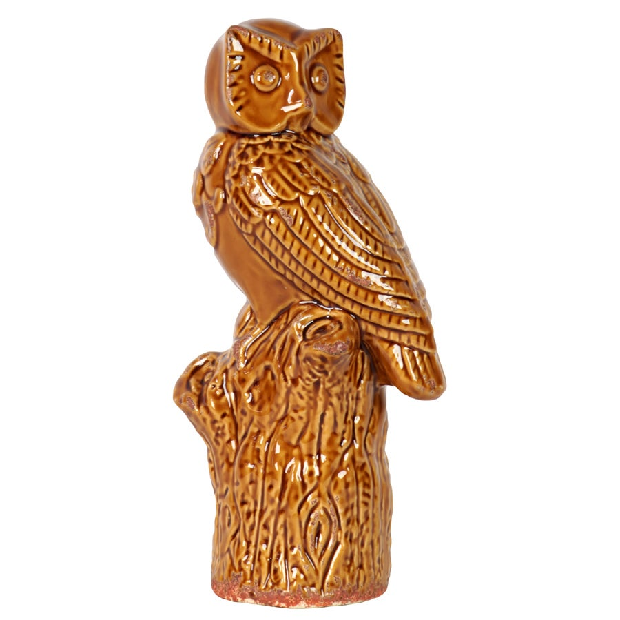 Brown Ceramic Owl