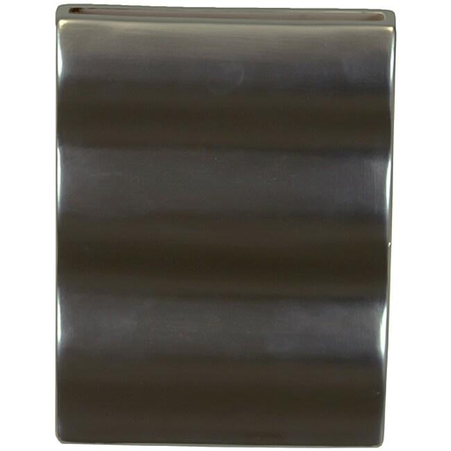 Silver 10-inch Ceramic Vase