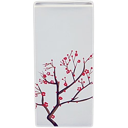 Ceramic Vase with Blooming Branches White