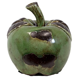 Urban Trend Green Large Apple Ceramic Accent Piece
