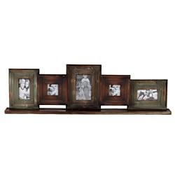 Wooden Multi-Photo Mirror Frame