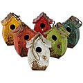 Urban Trend Assortment Bird Feeder Ceramic Weatherproof Garden Accent (Pack of 6)