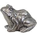 Urban Trend Silver Leaf Frog Ceramic Garden Accent