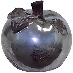 Small Silver 5-inch Ceramic Apple