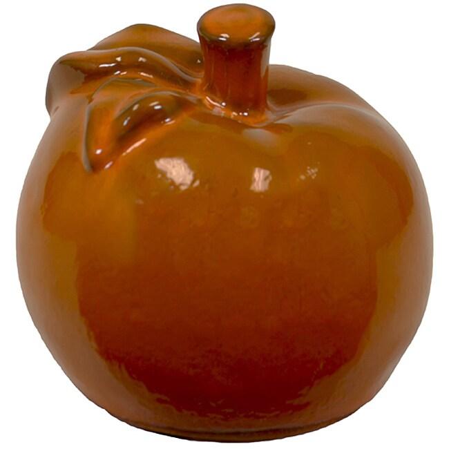 Small Orange 5-inch Ceramic Apple