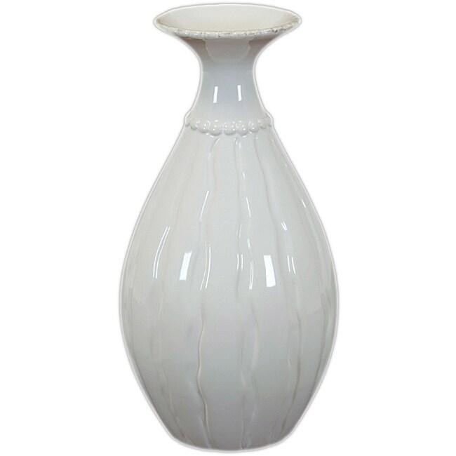 Urban Trend White Ceramic Flower Pot at Sears.com