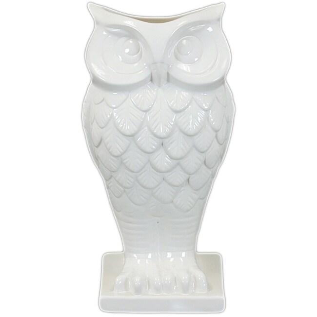 Ceramic Owl Vase