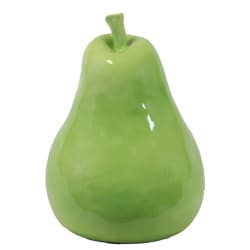Large Ceramic Green Pear