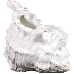 Decorative Ceramic Seashell White