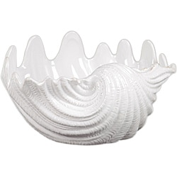 Urban Trends Ceramic Seashell White