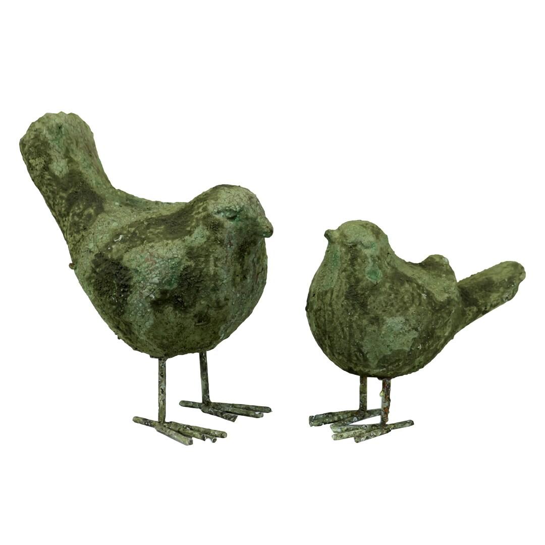 Stoneware Birds Moss Finish (Set of 2)