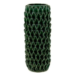 Urban Trends Collection Green Ceramic Vase