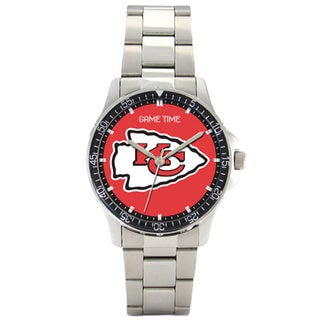 Men's Stainless Steel Kansas City Chiefs Coach Watch