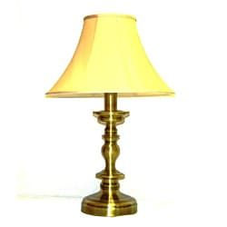 Crown Lighting Traditional 1 light Table Lamp in Antique Brass
