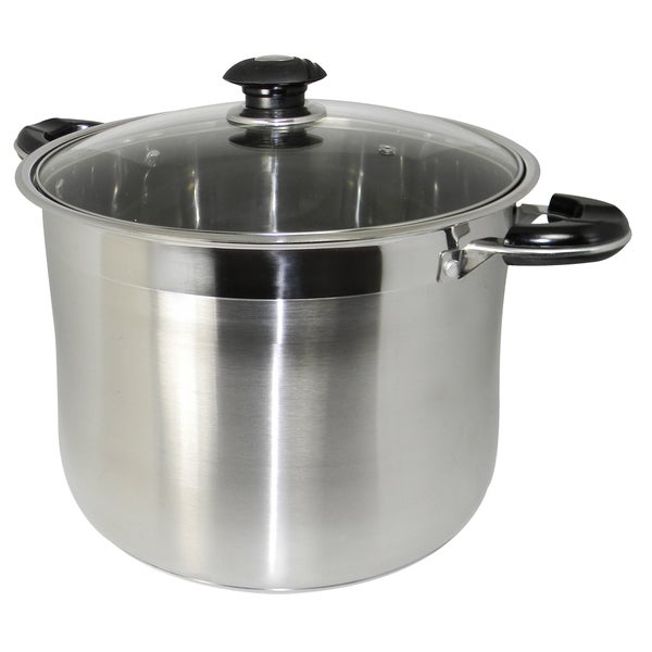 Prime Pacific 20-quart Heavy-duty 18/10 Stainless Steel Gourmet Tri-Ply Stockpot
