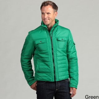 Pop Icon Men's Quilted Hidden Hood Jacket