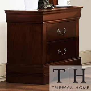 Tribecca Home Milford Louis Phillip Warm Brown Traditional 2-drawer Nightstand