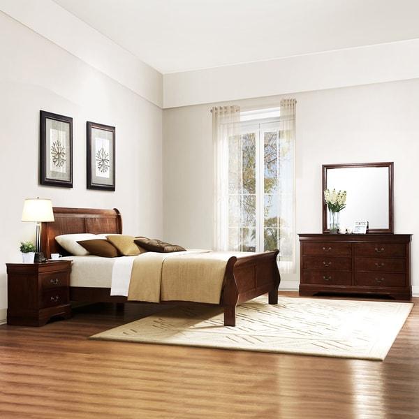 TRIBECCA HOME Milford Louis Phillip 5-piece Queen-size Sleigh Bedroom Set