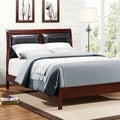 TRIBECCA HOME Filton Faux Leather Upholstered Queen-size Bed