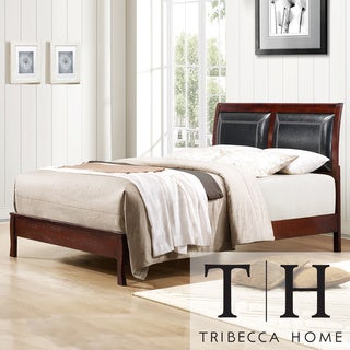 TRIBECCA HOME Swinford Faux Leather Upholstered Twin-size Bed