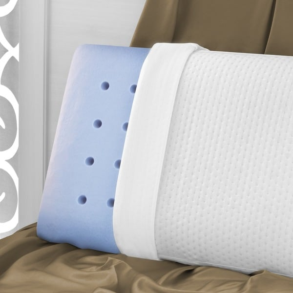 SwissLux Euro Style Luxury King-size Memory Foam Pillow (As Is Item)