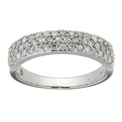 D'sire 10k White Gold 5/7ct TDW Pave Diamond Ring (H-I, I2-I3)