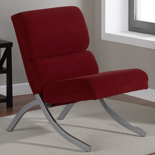 Rialto Solid Red Contemporary Chair