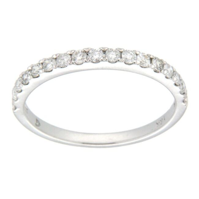 D'sire 10k White Gold 2/5ct TDW Diamond Wedding Ring (H-I, I2-I3)