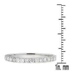 D'sire 10k White Gold 2/5ct TDW Diamond Wedding Ring (H-I, I2-I3)