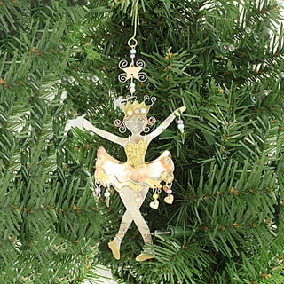Handcrafted Sugarplum Fairy Mixed Metals Ornament (Thailand)