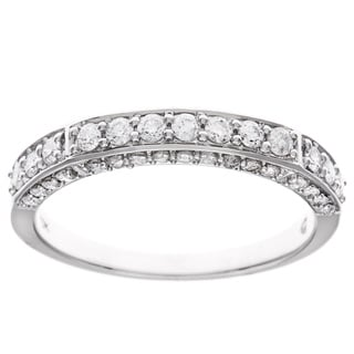 D'sire 10k White Gold 3/5ct TDW Diamond Ring (H-I, I2-I3)