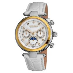 Akribos XXIV Women's Classique White Diamond Automatic Fashion Strap Watch