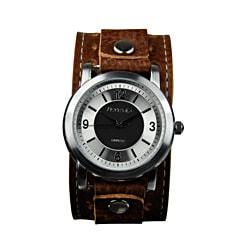 Nemesis Men's Retro Leather-Strap Japanese-Quartz Watch