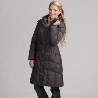 London Fog Women's Gunmetal Down Parka