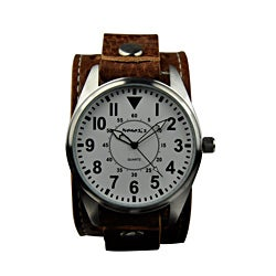 Nemesis Men's Brown Leather Strap Watch